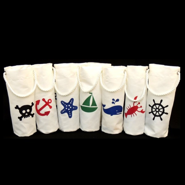 Sailcloth Wine Totes