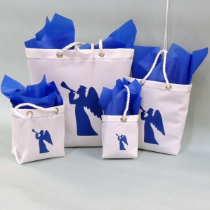 Sailcloth Christmas Gift Bags - Blue Angel Design