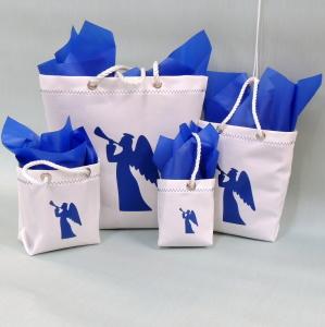 Sailcloth Christmas Gift Bags - Blue Angel Design