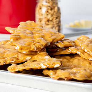 Old Fashioned Peanut Brittle Gift Tin -2lb - 2 Pack