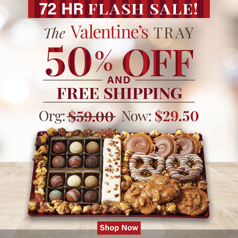 50 Percent Off The Valentine's Tray