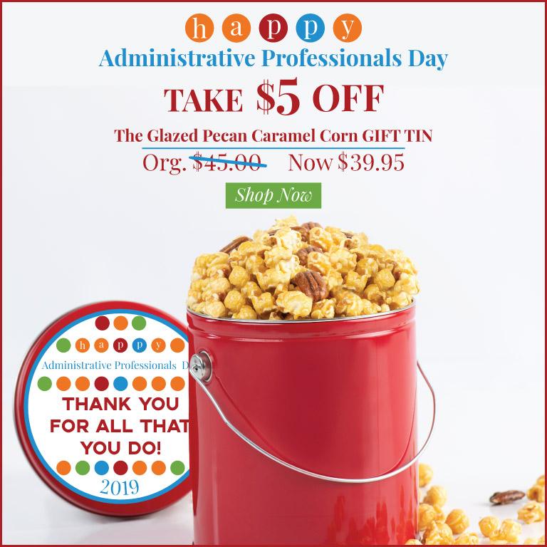 $5 The Glazed Caramel Pecan Popcorn Gift Tin!