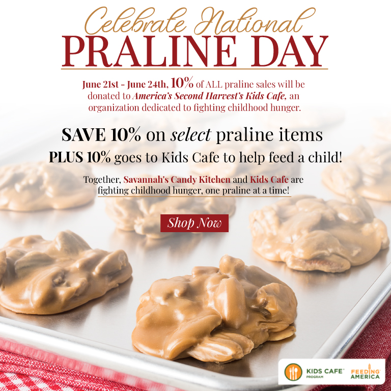 Celebrate National Praline Day & Help Feed A Child!