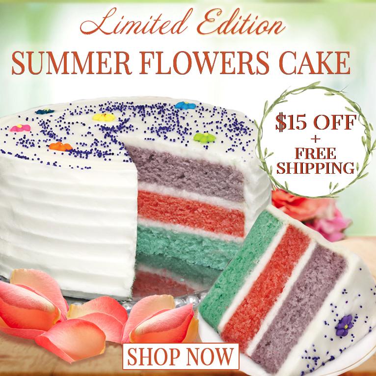 Summer Flowers Cake