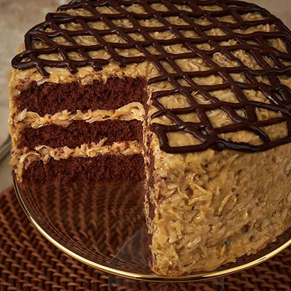 Prime German Chocolate Layer Cake Cake Delivery Savannahs Candy Kitchen Personalised Birthday Cards Beptaeletsinfo
