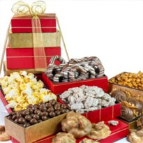 Buy Gift towers online at Savannah's Candy Kitchen.  Taste our fresh candy made on Riverstreet in these gourmet gift sets