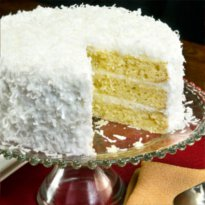 Savannah's Coconut Layer cake | Buy Coconut Cakes online at Savannah's Candy Kitchen.  Made famous on River Street.