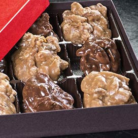 Pecan Pralines Duo Gift Box - 9 Piece Duo Gift Box