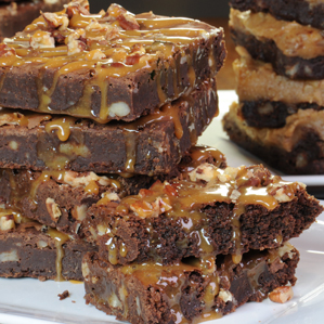 Chocolate Caramel Brownies