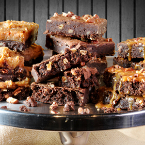 Pecan Brownie Trio