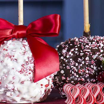 Christmas Peppermint Caramel Apples 2pk