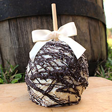 Caramel Apples With White and Dark Chocolate Swirl