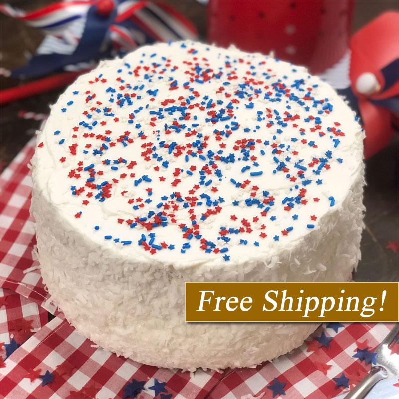 Star Spangled Coconut Cake