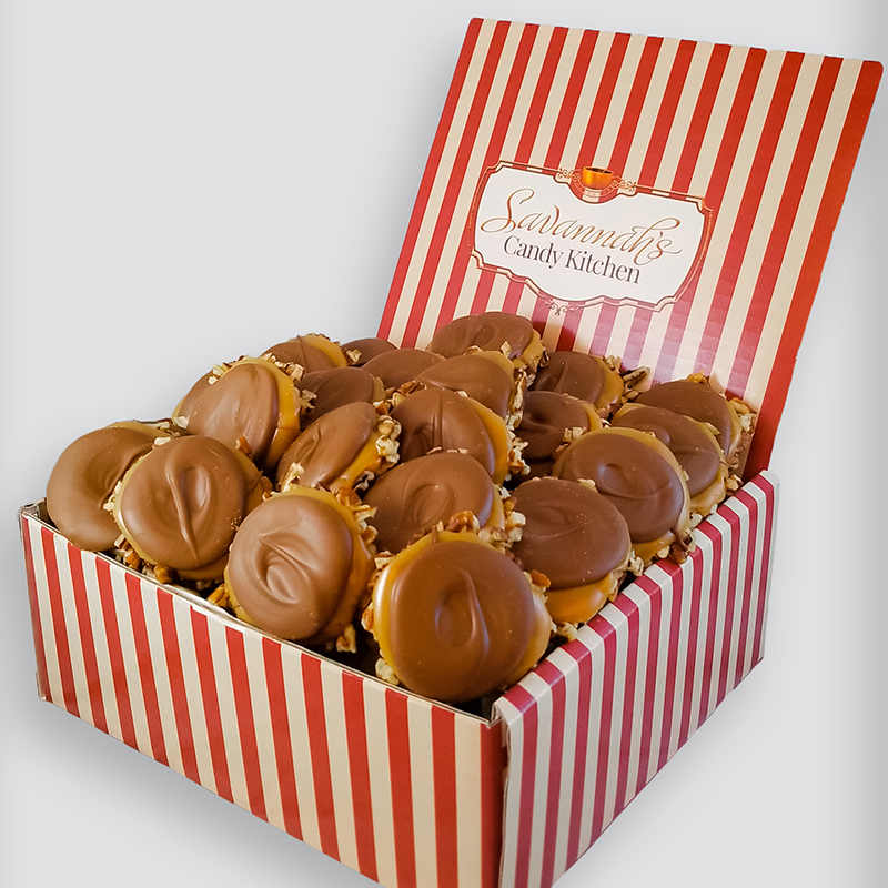 24 Piece Milk Chocolate Turtle Gophers Gift Box