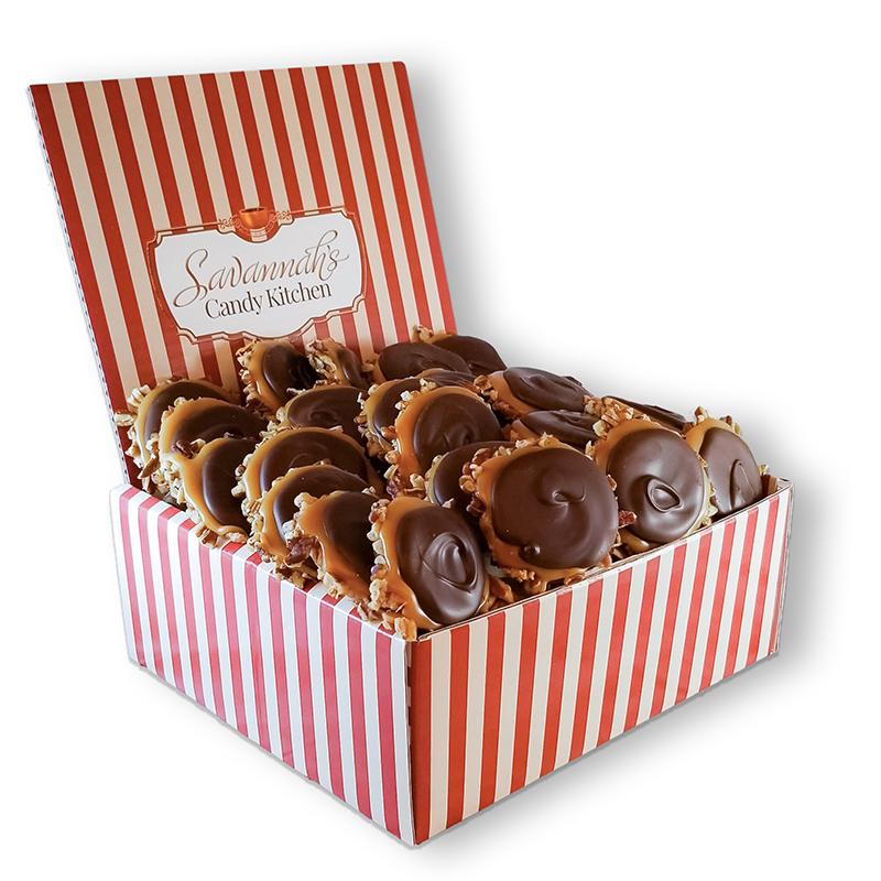 24 Piece Dark Chocolate Turtle Gophers Gift Box