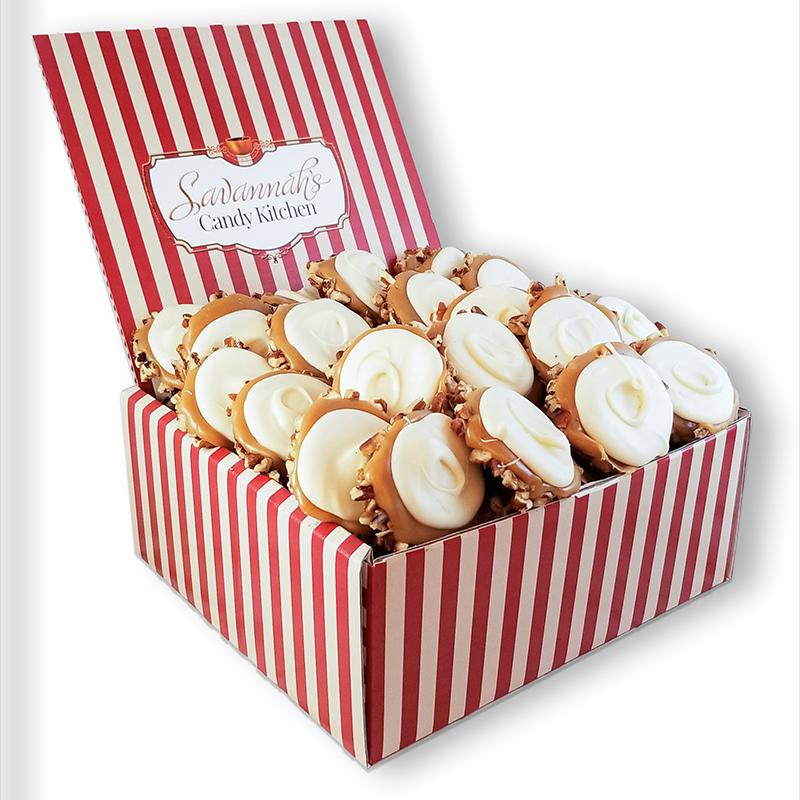 24 Piece White Chocolate Turtle Gophers Gift Box