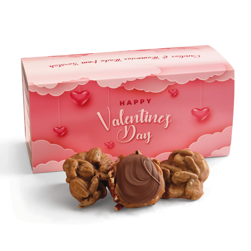 12 Piece Praline & Turtle Gopher Duo in the Valentine's Gift Box