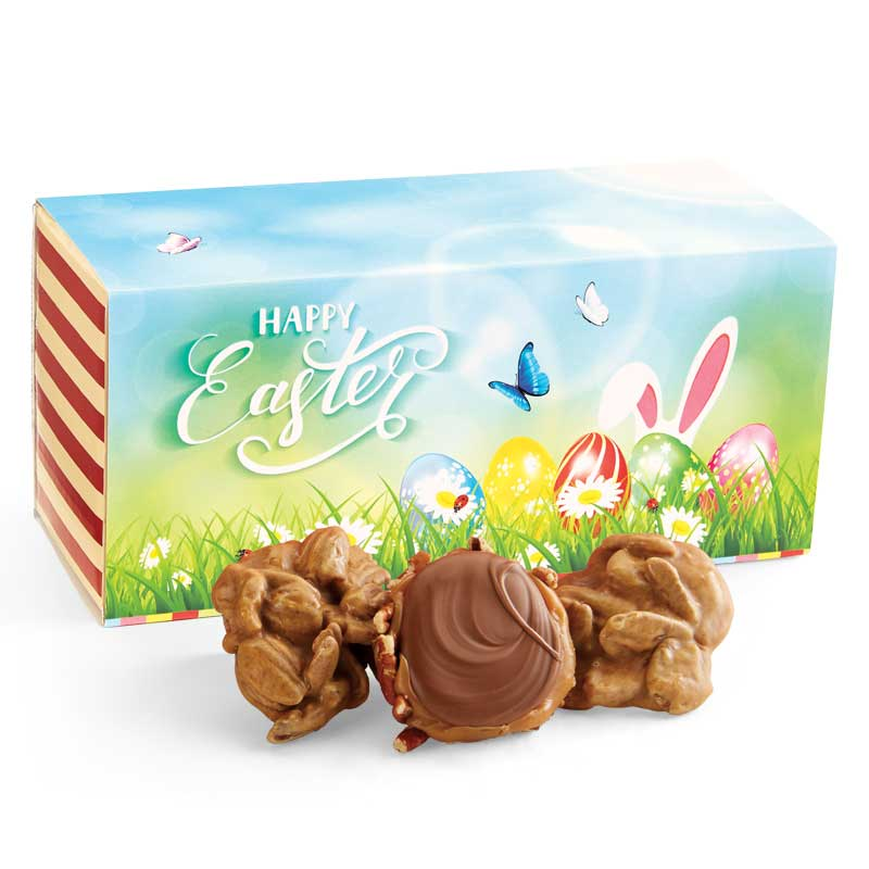 12 Piece Praline & Turtle Gopher Duo in the Easter Gift Box