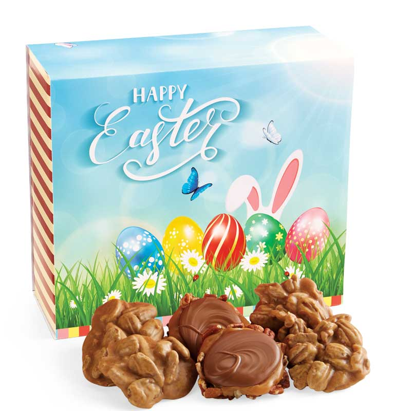 24 Piece Praline & Turtle Gopher Duo in the Easter Gift Box