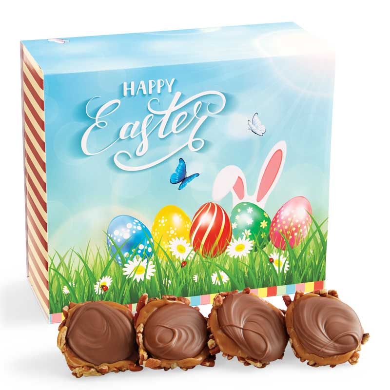 24 Piece Milk Chocolate Turtle Gophers in the Easter Gift Box