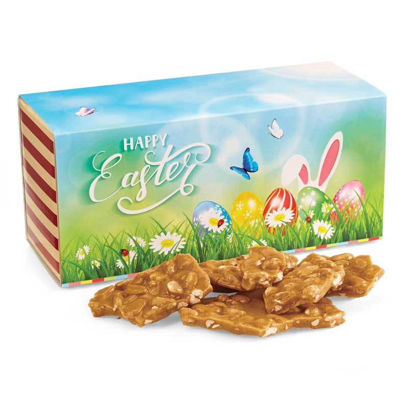 Old Fashioned Peanut Brittle in the Easter Gift Box