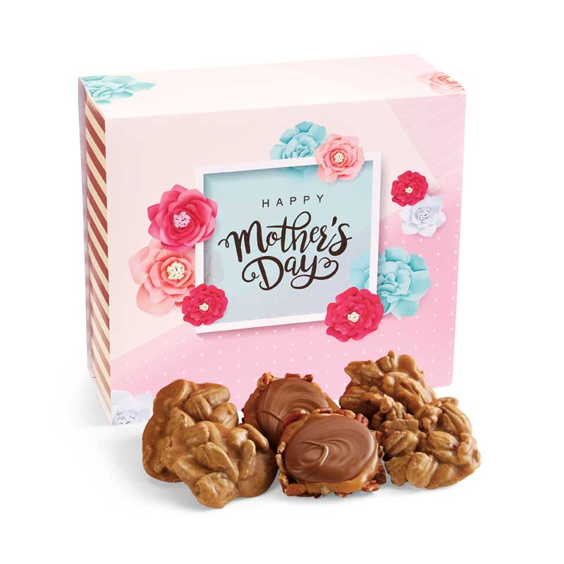 24 Piece Praline & Turtle Gopher Duo in the Mother's Day Gift Box