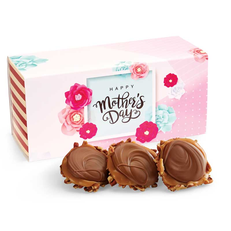 12 Piece Milk Chocolate Turtle Gophers in the Mother's Day Gift Box