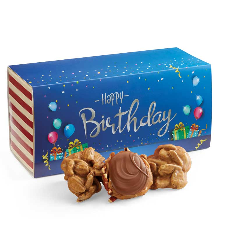 12 Piece Praline & Turtle Gopher Duo in the Birthday Gift Box