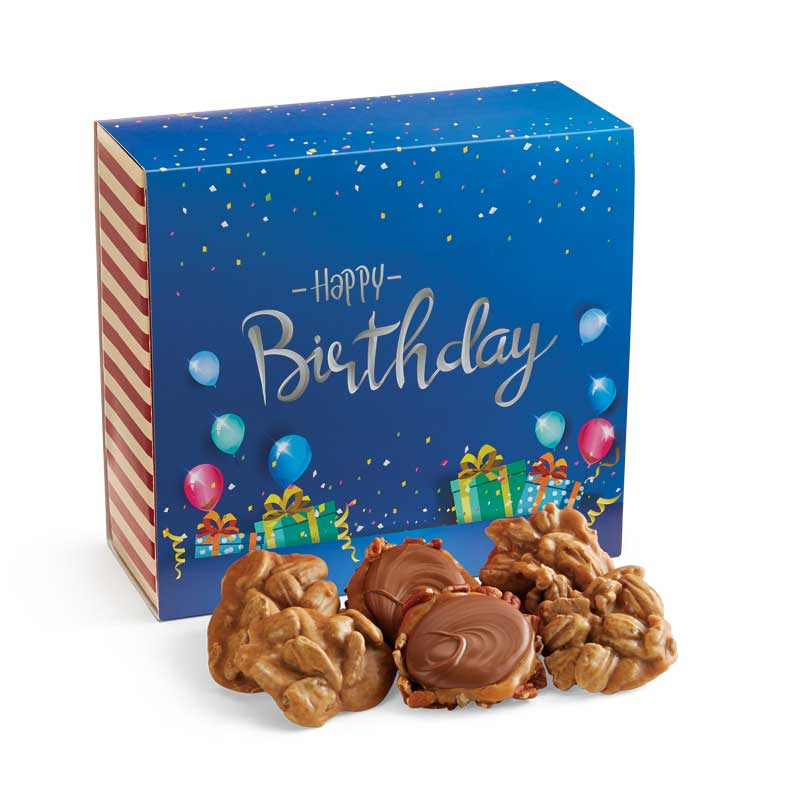 24 Piece Praline & Turtle Gopher Duo in the Birthday Gift Box