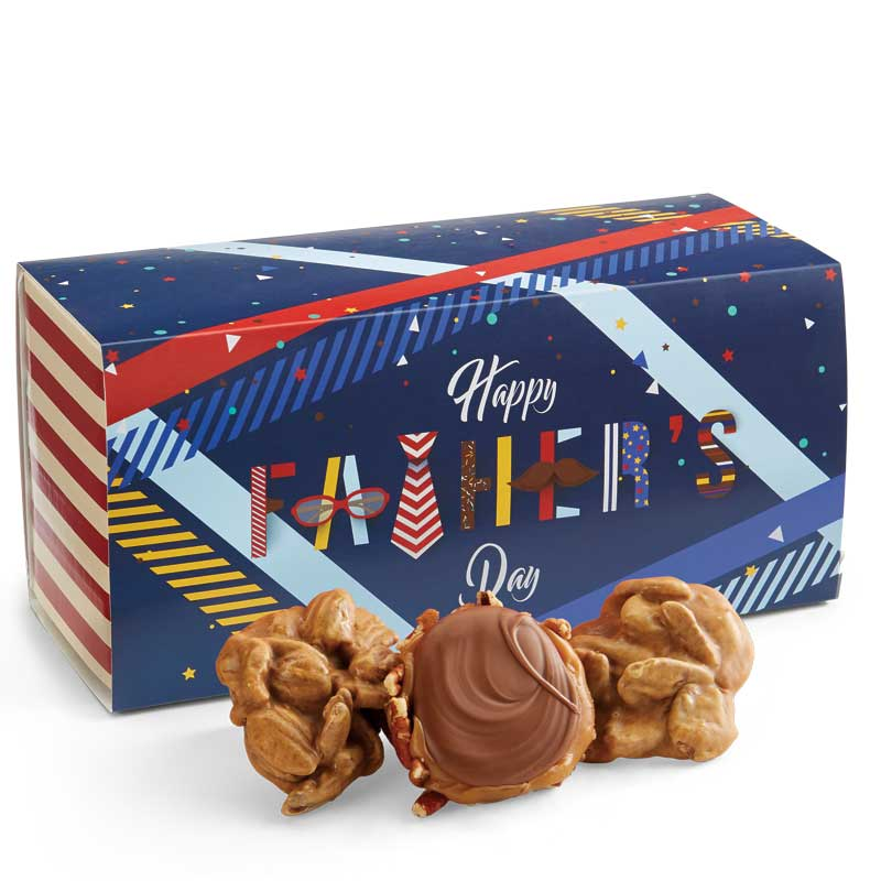12 Piece Praline & Turtle Gopher Duo in the Father's Day Gift Box
