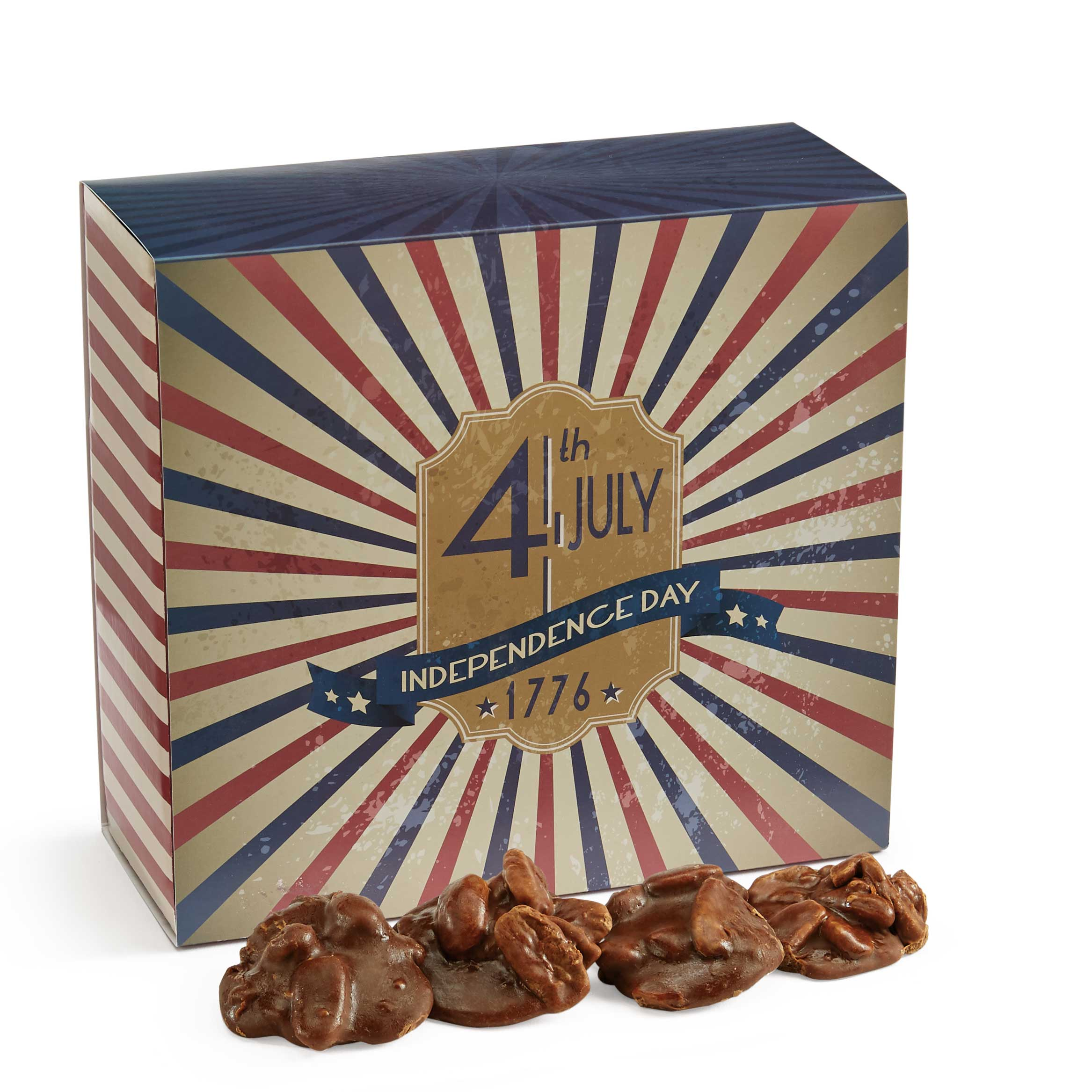 24 Piece Chocolate Pralines in the 4th of July Gift Box