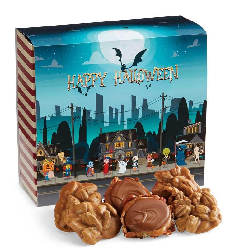24 Piece Praline & Turtle Gopher Duo in the Halloween Gift Box