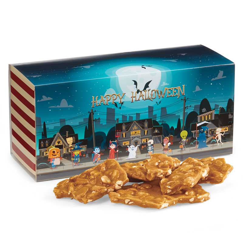 Old Fashioned Peanut Brittle in the Halloween Gift Box