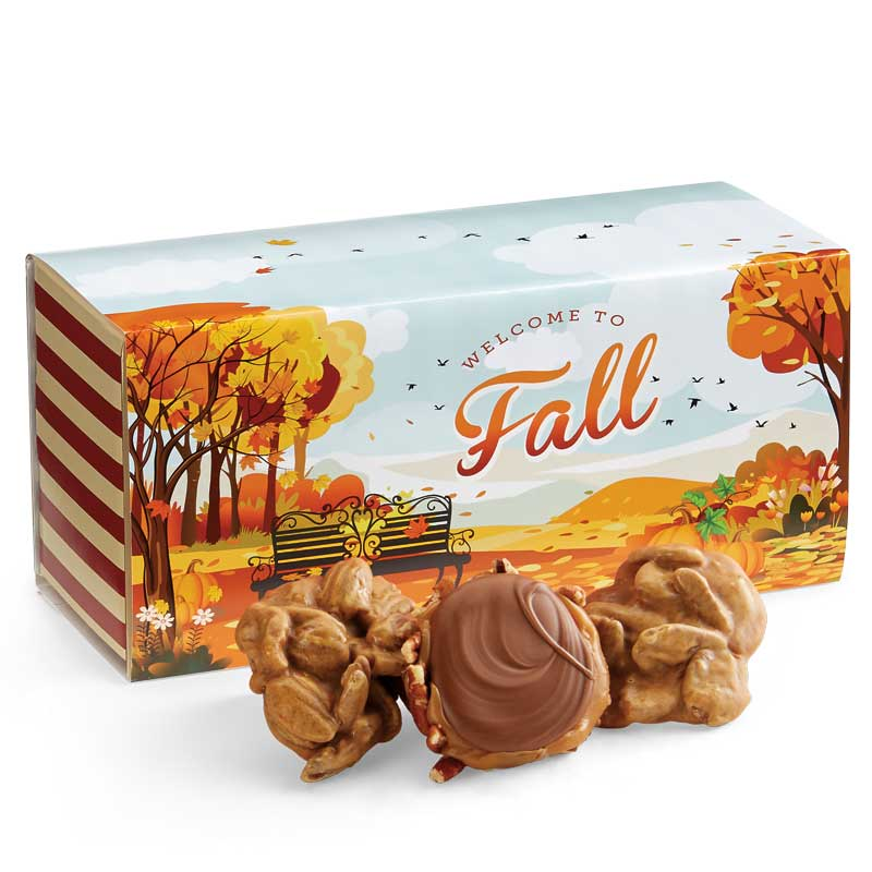 12 Piece Praline & Turtle Gopher Duo in the Fall Gift Box