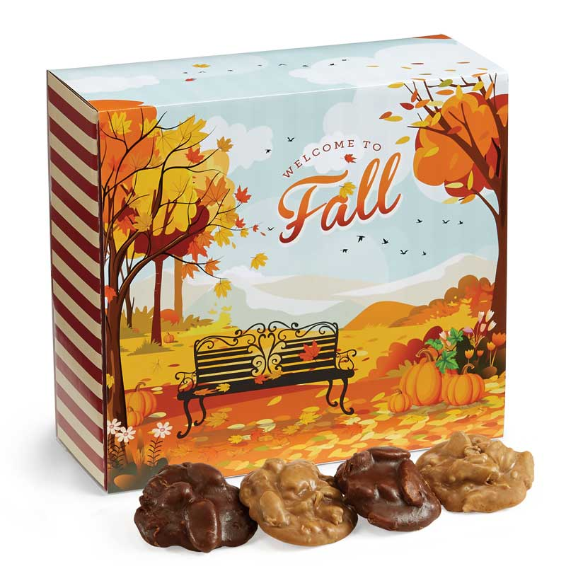 24 Piece Assorted Pralines in the Fall Gift Box
