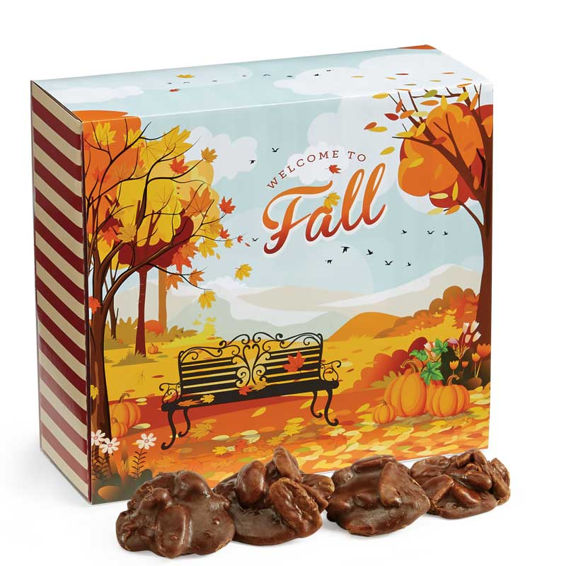 24 Piece Chocolate Pralines in the Fall Gift Box