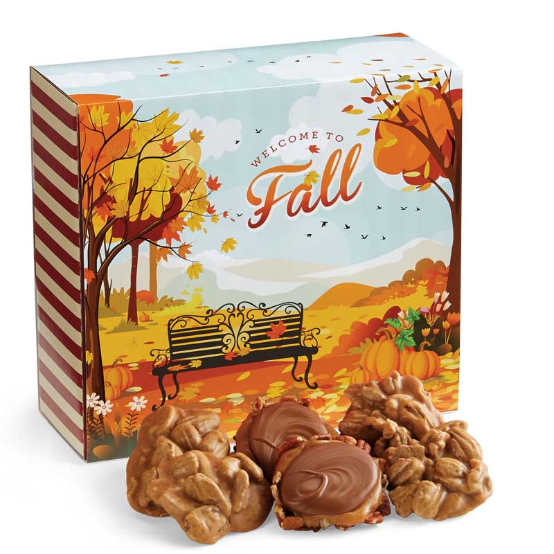 24 Piece Praline & Turtle Duo in the Fall Gift Box