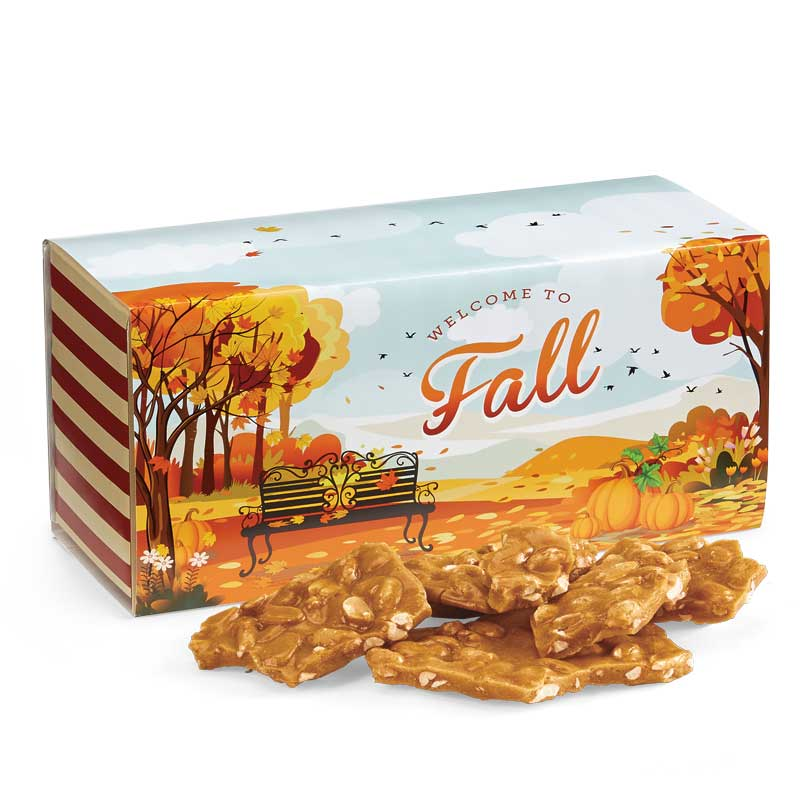 Old Fashioned Peanut Brittle in the Fall Gift Box