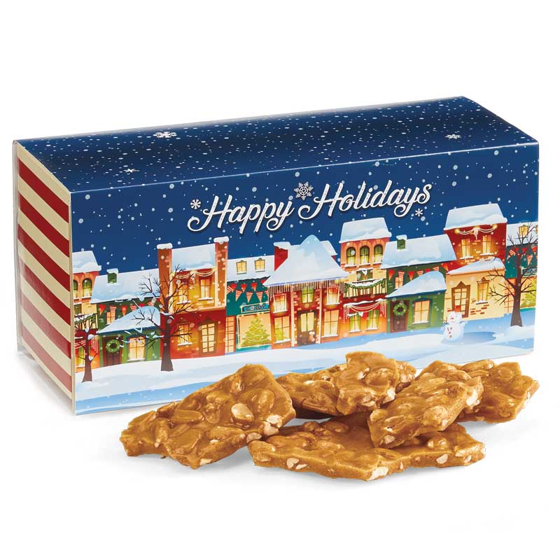 Old Fashioned Peanut Brittle in the Holiday Gift Box