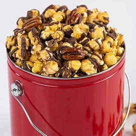 Chocolate Glazed Pecan Caramel Corn Gift Tin