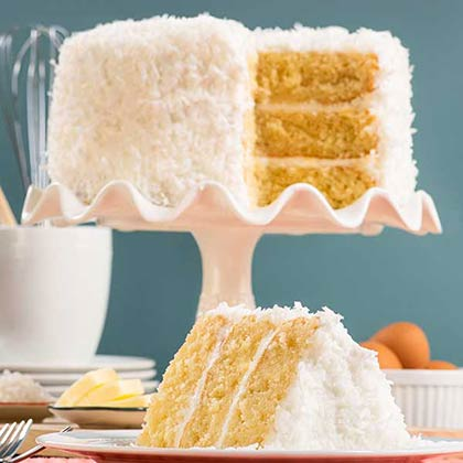 Fabulous Coconut Layer Cake Online Cake Delivery Savannahs Candy Kitchen Funny Birthday Cards Online Alyptdamsfinfo