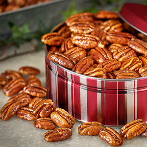 Glazed Pecan Gift Tin 1lb - 2 Pack