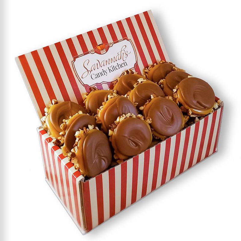12 Piece Milk Chocolate Turtle Gophers Gift Box