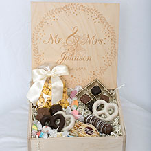 Custom Wedding Box - Mr & Mrs Johnson with Floral
