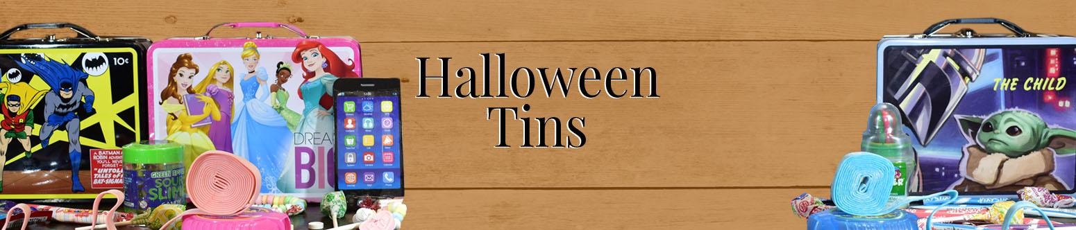 Halloween Candy Tins