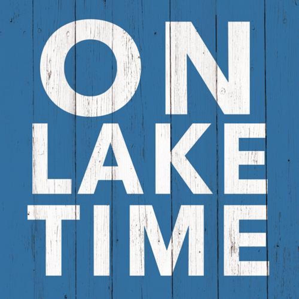 On Lake Time Cocktail Napkins