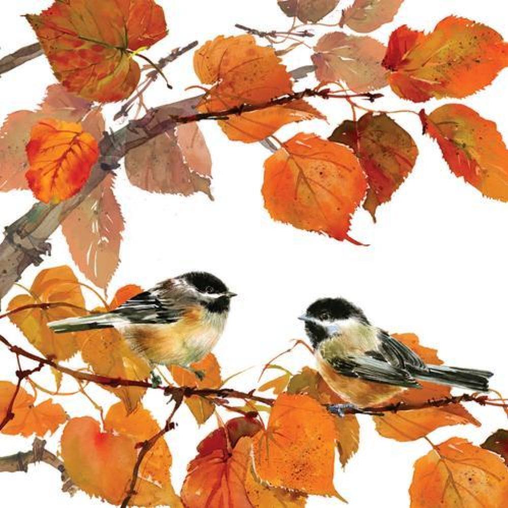 Autumn Birds Beverage Napkin