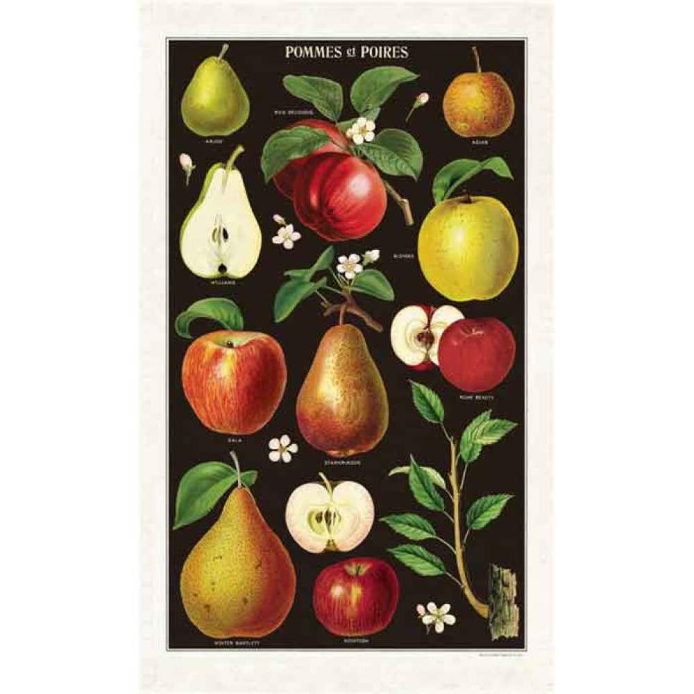 Vintage Apples & Pears Tea Towel