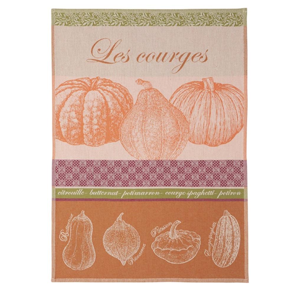 Les Courges French Cotton Jacquard Tea Towel