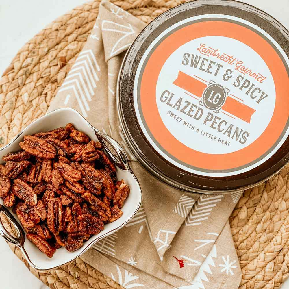 Sweet & Spicy Glazed Pecans Gift Tin